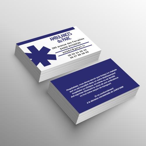 cartes de visite pour ambulance ou vsl par marquage-ambulance.com